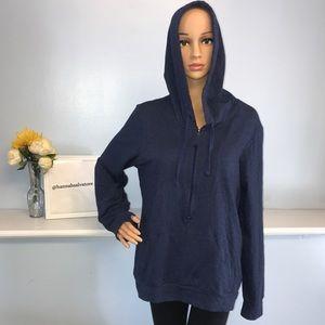 Lucy women's extra large navy blue half zip up